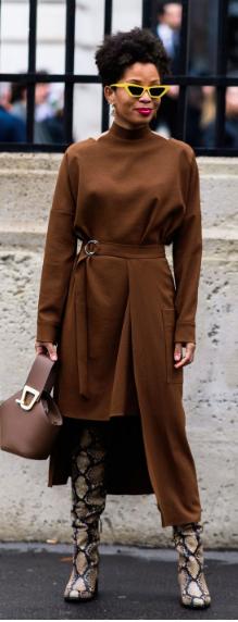 fall fashion, fashion trends, womens fashion, animal print, boots, vintage fashion